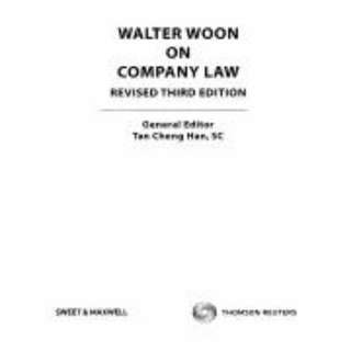 Walter Woon On Company Law (Revised 3rd Student Edition) (Photocopied / Bounded)