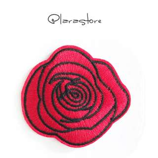 Bn Iron On Patch rose Embroidered