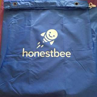honestbee Laundry Bag (Blue In Colour with Cute Bee Design)