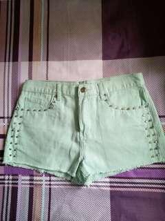 F21 Mint Green Shorts