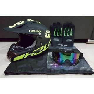 Full Face Helmet - Helmo Matte Lime Green