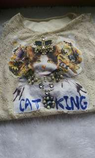 Cat King Laced Blouse