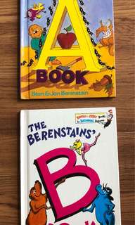 The Berenstains' The A Book and The B Book (total 2 hardcover books)