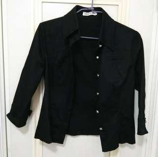 🚚 黑色外套+黑色上衣#畢業一百元出清