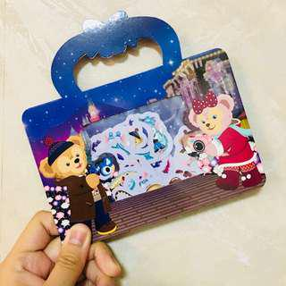 (絕版)香港迪士尼樂園 - DUFFY聖誕節貼紙包