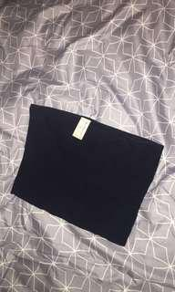 Witchery Navy ribbed bandeau size S