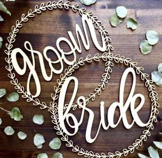 Bride and Groom Signages