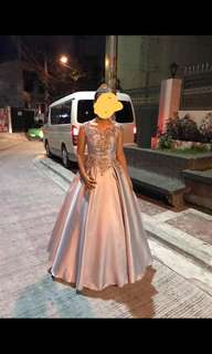 Sky blue ball gown (FOR RENT)