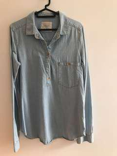 Zara jeans shirt
