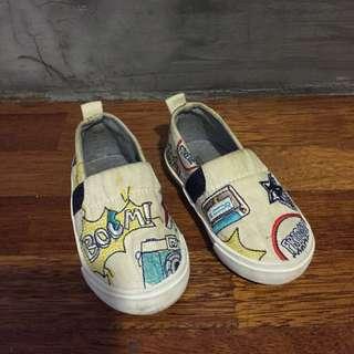 Zara Toddler Comic Slip Ons