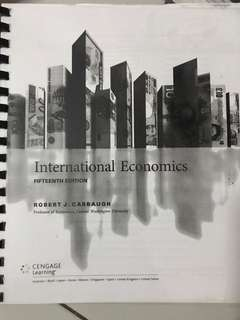International Economics by Robert J. Carbaugh