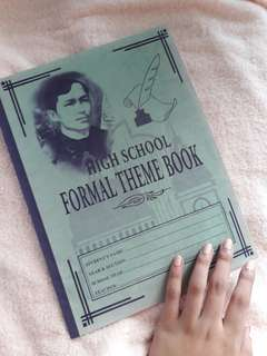 High School Formal Theme Book and Music Books