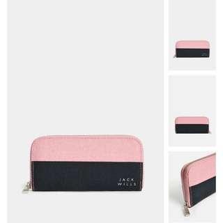 現貨Jack Wills Wallet/ purse (經典pink/navy色)