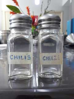 2 pcs. Condiments Glass Containers