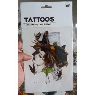 7-inch Temporary Sticker Art Tattoo