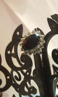 SHINE JEWELLERY SILVER Black Crystal