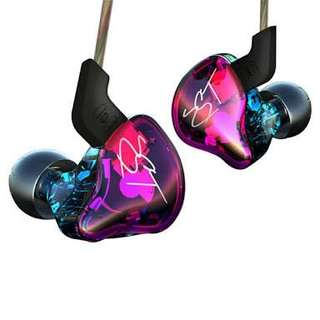 KZ ZST In Ear Monitors with bluetooth adaptor and case