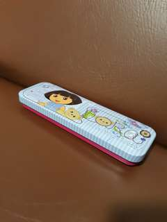 Dora pencil case with pencils