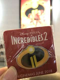 The incredibles 2 pin from Hoyts Australia