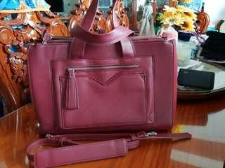 PARFOIS briefcase laptop bag (red)