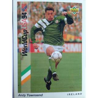 Andy Townsend (Ireland) - Soccer Football Card #44 - 1993 Upper Deck World Cup USA '94 Preview Contenders