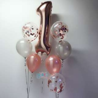 "40"" Rose Gold Helium Number Balloon"