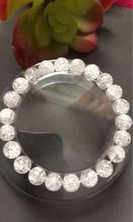 天然水晶#白水晶#手鏈(7mm)20粒