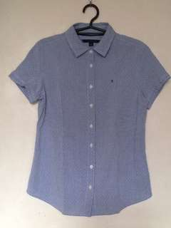 Light Blue TOMMY HILFIGER button down short sleeves
