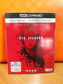 USA Blu Ray Slipcase - Red Sparrow 4K