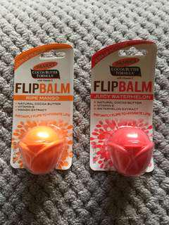 2 Palmer's Flip Balms Mango Watermelon