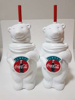 Always Coca cola plastic collectibles