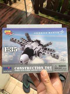 F-35 Lockheed Martin block toy