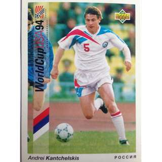 Andrei Kantchelskis (Russia) - Soccer Football Card #42 - 1993 Upper Deck World Cup USA '94 Preview Contenders