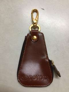Toyota leather keychain and pouch