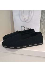"""DIOR HIT"" SLIPPERS IN BLACK TECHNICAL CANVAS"