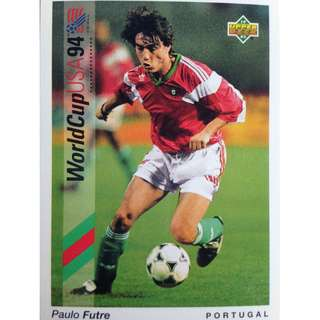 Paulo Futre (Portugal) - Soccer Football Card #41 - 1993 Upper Deck World Cup USA '94 Preview Contenders