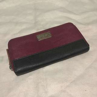 Nine West Long Wallet (black & burgundy)