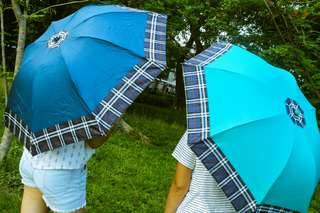 Blue and Bright Aqua Blue umbrella