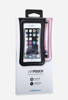正版【MOMAX】三層防護氣囊電話防水袋 Airpouch Waterproof Protective Case Bag 防水套 Iphone Samsung 沙灘 Beach