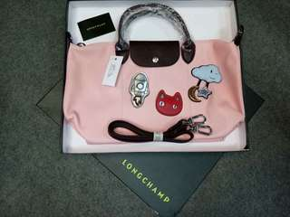 Longchamp cuir w/ patches