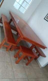 Dining table made from mahogany