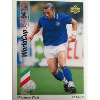 Gianluca Vialli (Italy) - Soccer Football Card #38 - 1993 Upper Deck World Cup USA '94 Preview Contenders