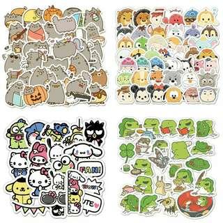 🚚 INSTOCK Sticker grabbag: pusheen gudetama frog winnie the pooh, etc.