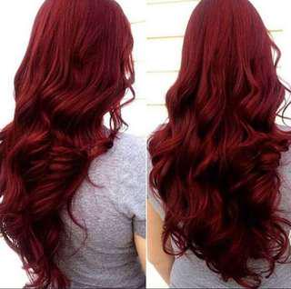 Synthetic wig (red)