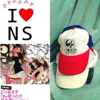 全新 I Love N S 英文字母 人頭公仔圖案 紅白藍設計 棒球帽 Cap帽