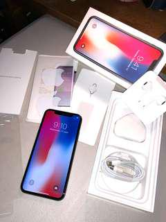 For sale preloved Iphone X 256gb Space Gray Factory Unlock with warranty until Dec 2018