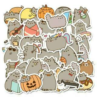 🚚 Pusheen sticker flakes