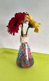 Fresh flowers in glass vase