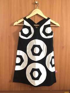 Cute Geometric Black and White Dress