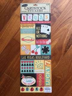 The Paper Studio - Vegas Glitter Sticker